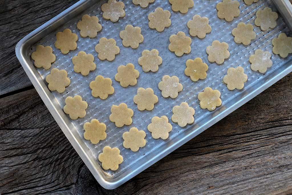 cookies de óleo de coco prontos para assar