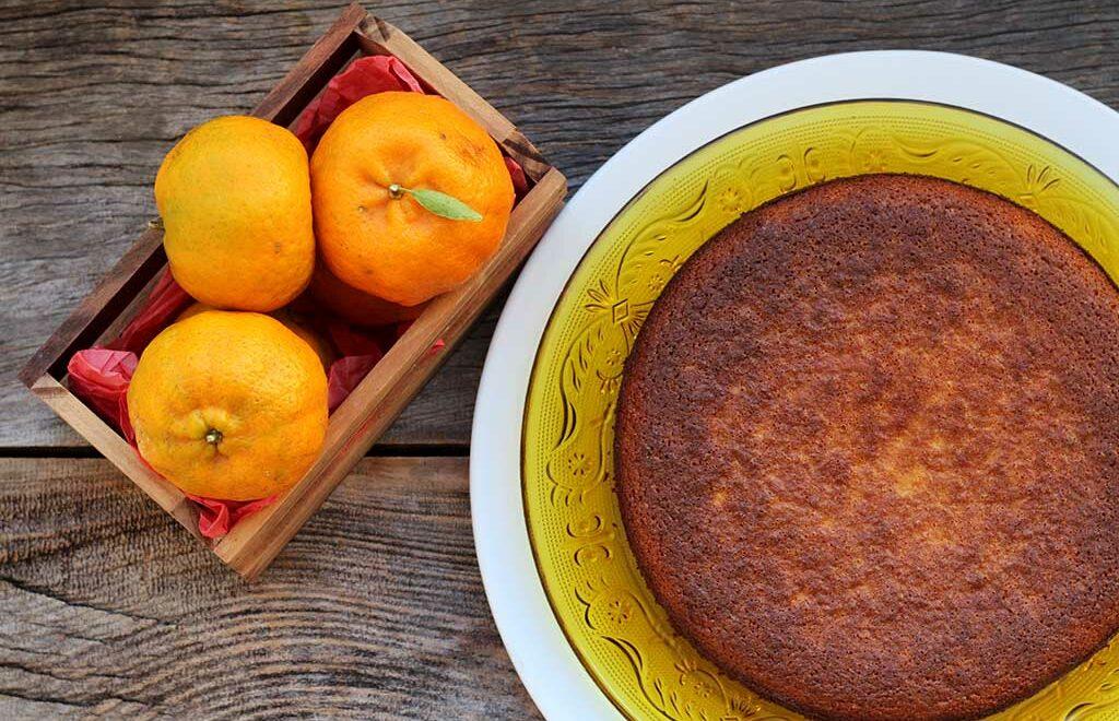 Bolo de bergamota sem farinha e delicioso