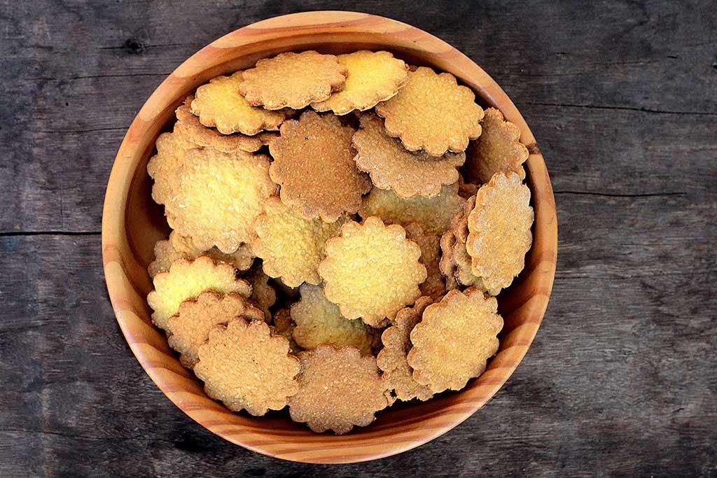 Biscoitos de abóbora e coco