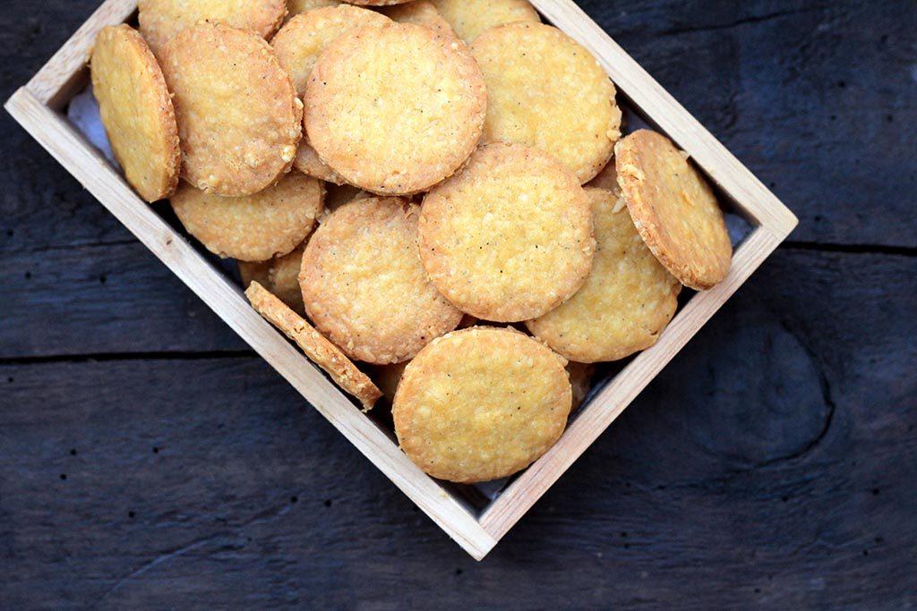 Biscoito de queijo com páprica
