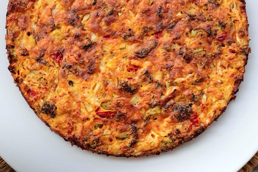 Receita Torta salgada de brócolis e couve-flor saudável e vegetariana
