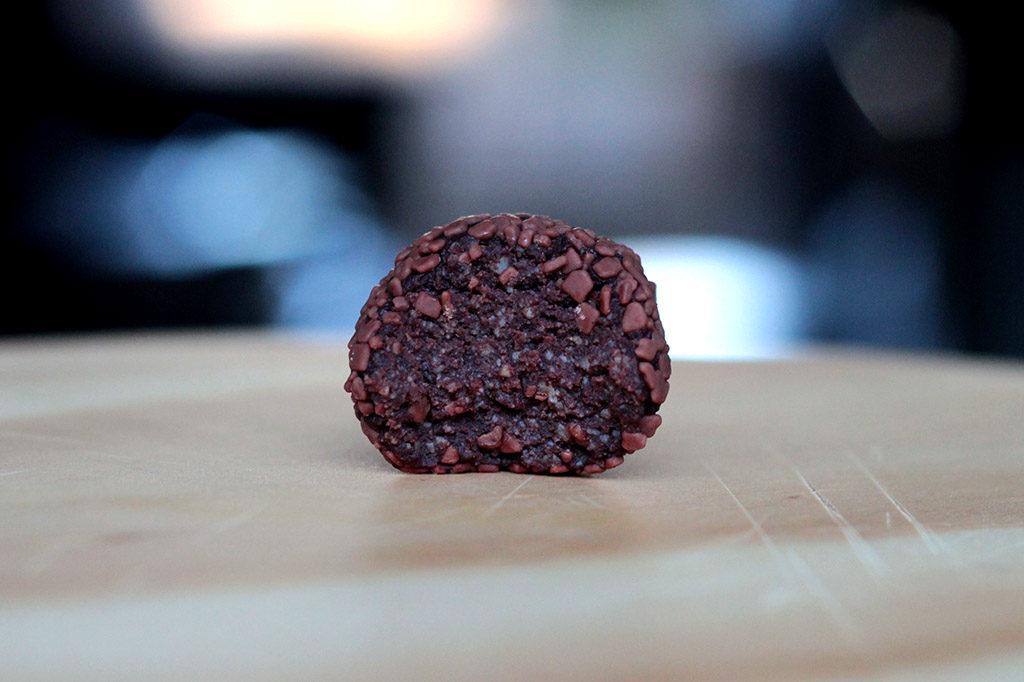 Brigadeiro de ricota e chocolate