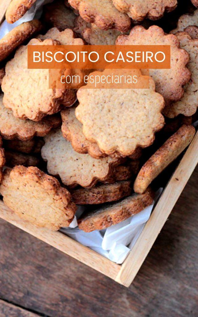 Receita de biscoito caseiro com especiarias