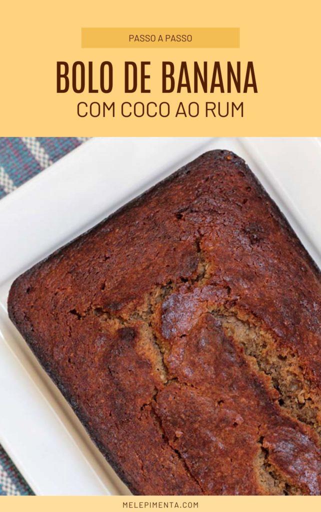 Bolo de banana e coco ao rum - Receita fácil