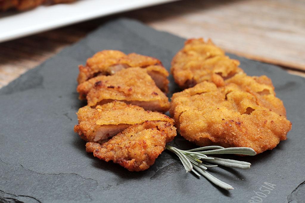 Como fazer Bife de porco à milanesa perfeito- Crocante e delicioso