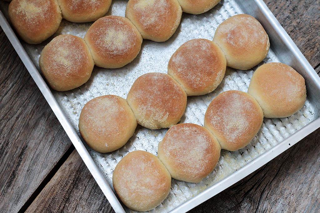 Pãezinhos de farinha de milho e iogurte