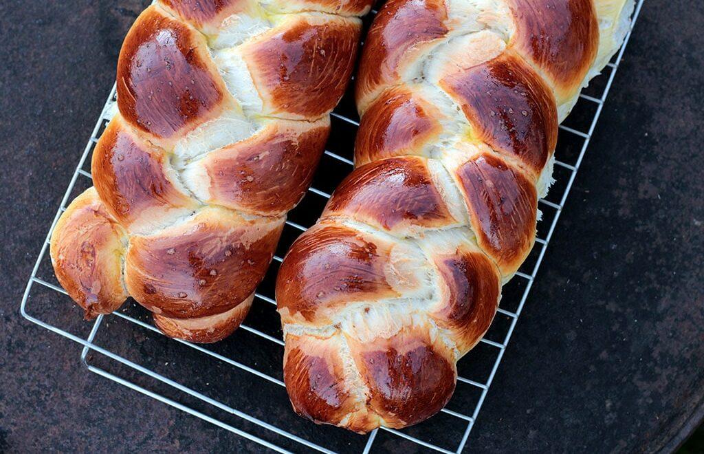 Pão de massa doce trançado – Caseiro e delicioso