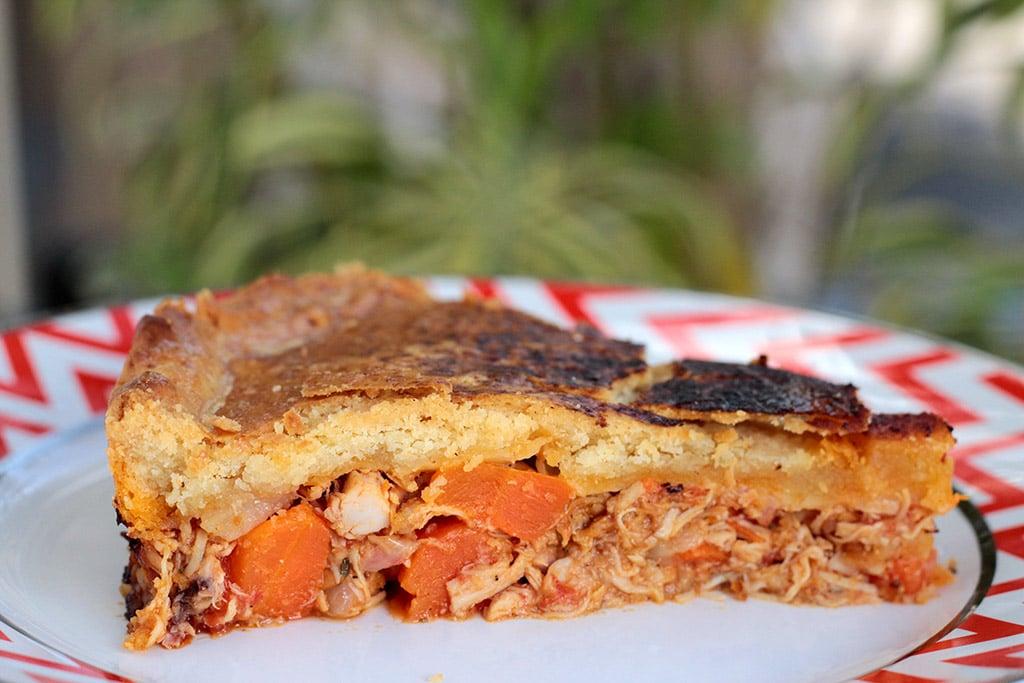 Torta de frango com cenoura