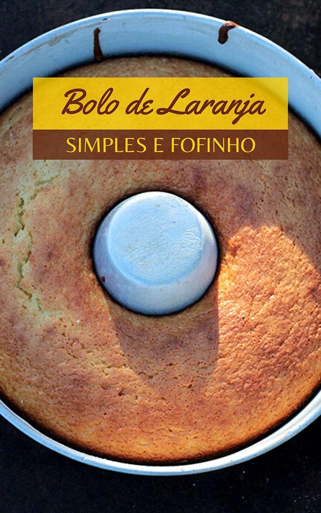 receita de Bolo de laranja simples e fofinho