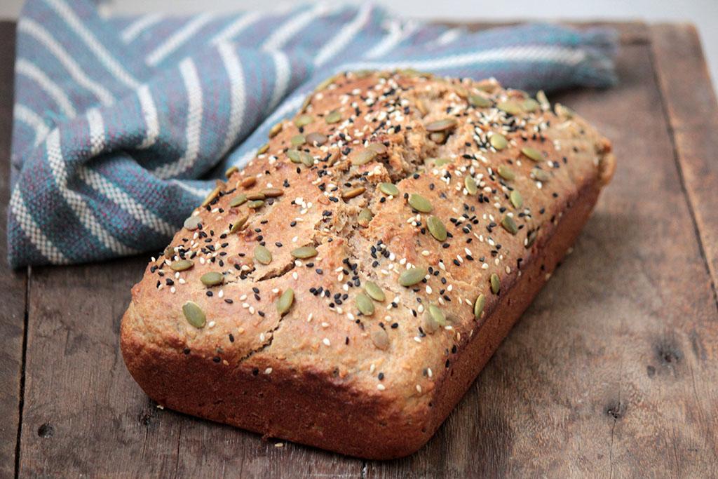 Pão integral de liquidificador - Rápido e sem sova