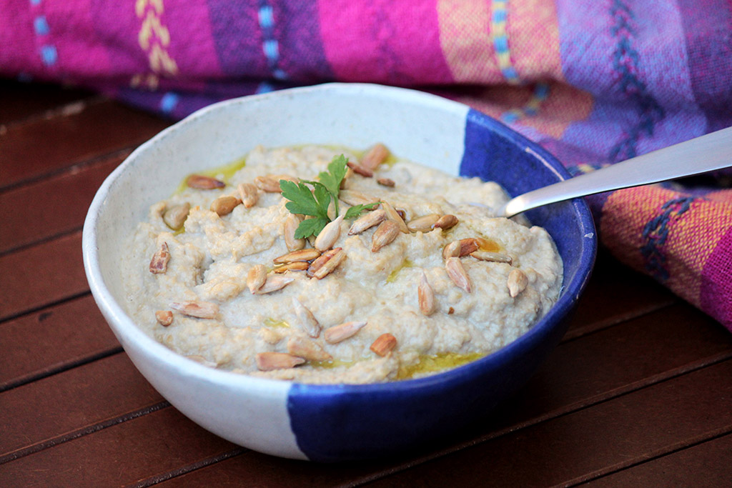 Pasta de sementes de girassol - Receita vegana