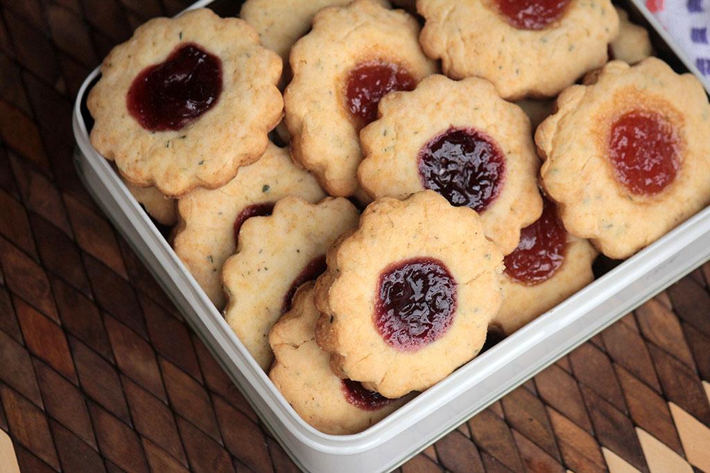 Biscoitos de alecrim com geleia - Fáceis e deliciosos