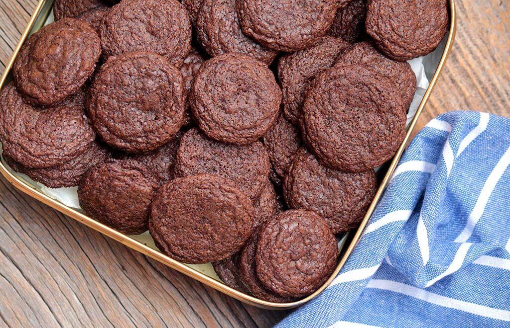 Cookies de chocolate crocantes | Sem glúten e lactose
