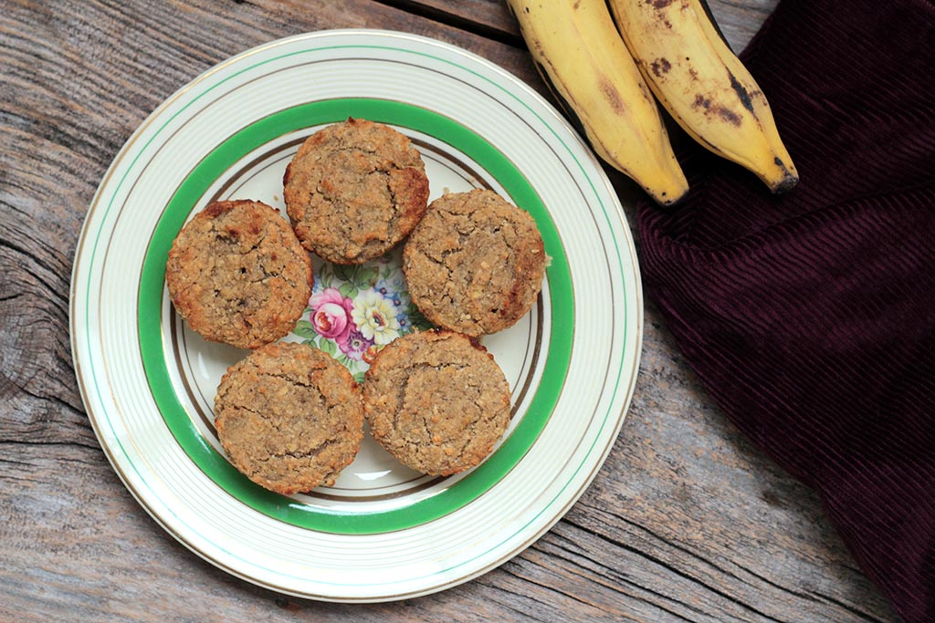 Bolinho de banana fit e simples | Muffins