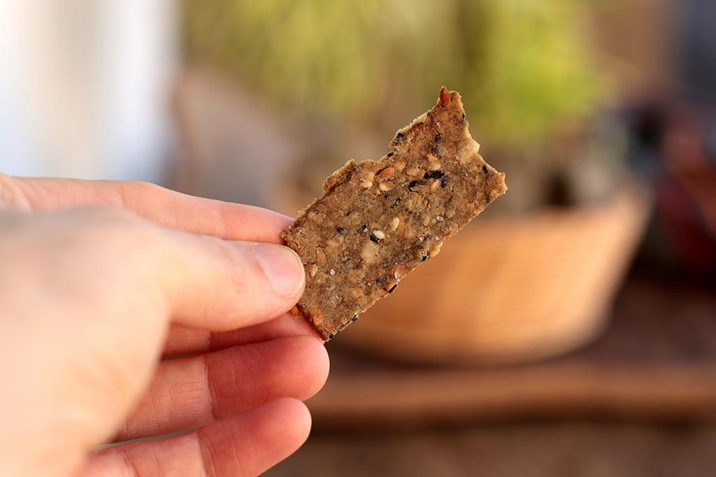 Palitos salgados de fubá com sementes