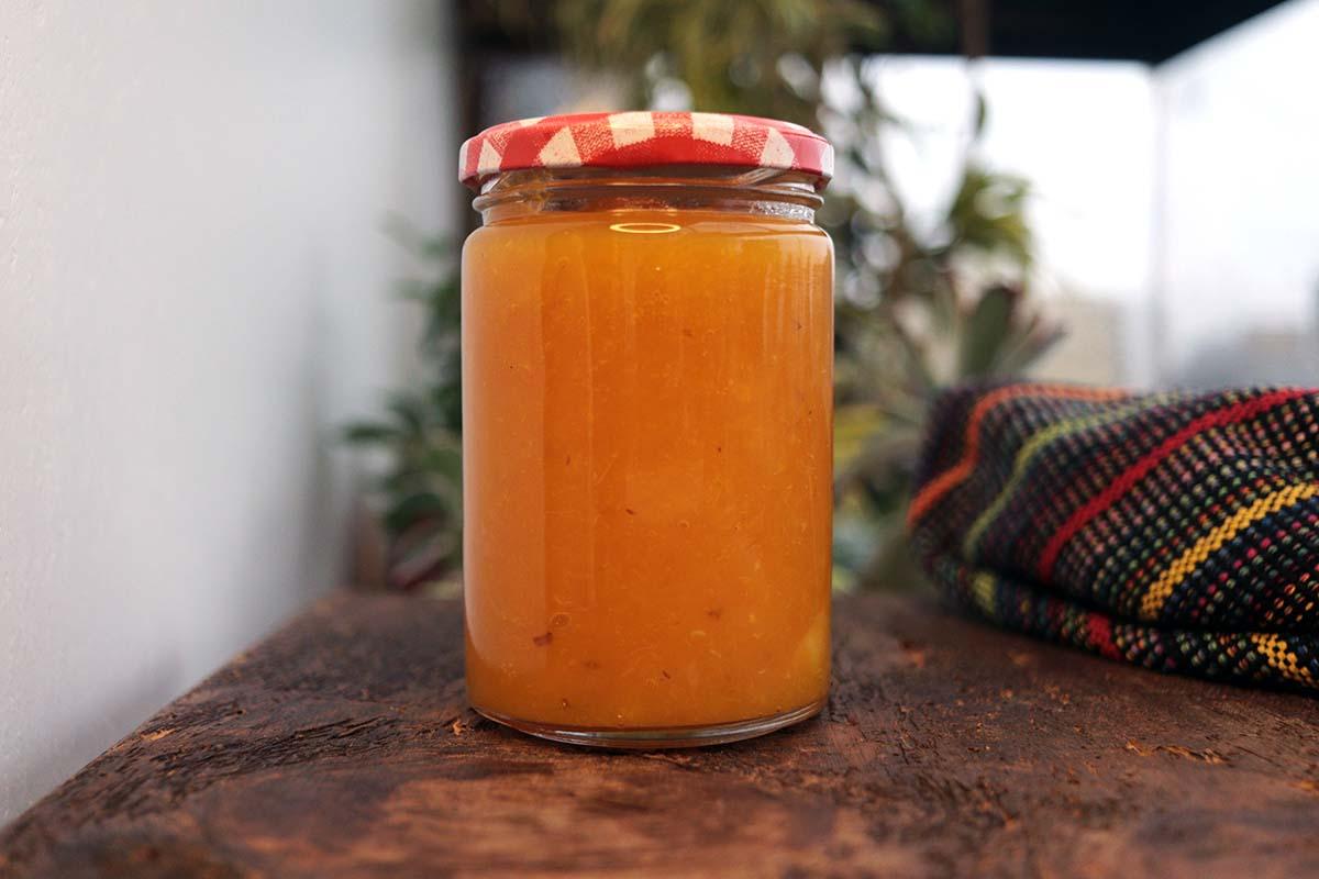 Geleia de abacaxi com bergamota